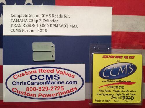 2 Cylinder Drag Reed Valves Outboard  PN322D CCMS Yamaha 25hp