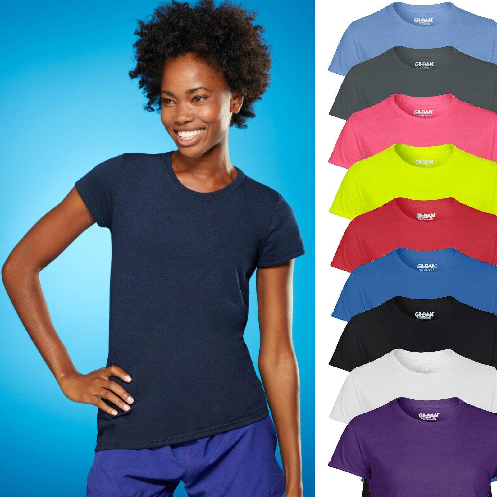 Damen Funktions T-Shirt Feuchtigkeitsregulierend Sport Fitness XS S M L XL XXL