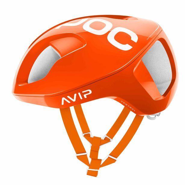 POC ventral Spin bicicleta ciclismo casco Fluo Naranja Tamaño Mediano