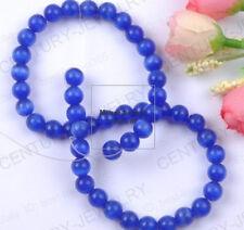 Free ship 15PCS Deep Blue color cat eye round loose beads 8MM