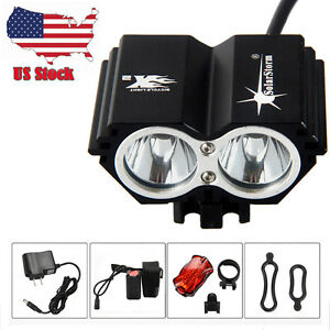 SolarStorm 8000Lm 2xXML T6 LED Cycling Bicycle Light Bike Lamp Headlight 4x18650