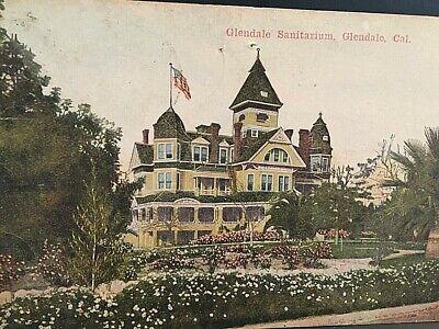 Glendale Sanitarium and Hospital Vintage Postcard California Uncirculated