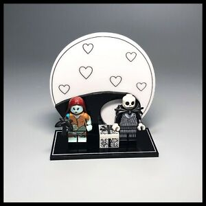 Acrylique-Presentoir-Pour-Lego-Disney-Series-2-jack-et-Sally-Minifigures