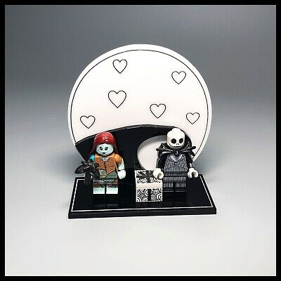Acrylic display stand for LEGO Disney series 2 Jack and Sally Minifigures