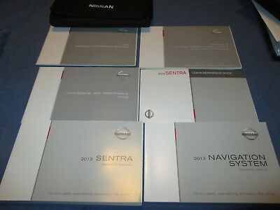 2013 Nissan Sentra Owners Manual >> 2013 Nissan Sentra Owners Manual Set W Case Navigation Ebay