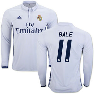 84a24682a Image is loading ADIDAS-GARETH-BALE-REAL-MADRID-LONG-SLEEVE-HOME-