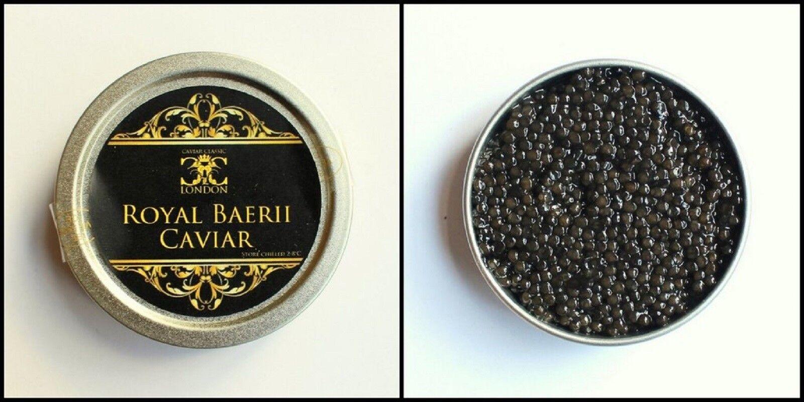 125 Gr. latas de del 9 de los mejores disponible del de caviar. baerii-Beluga. Gratis Perla Cuchara. 0654de