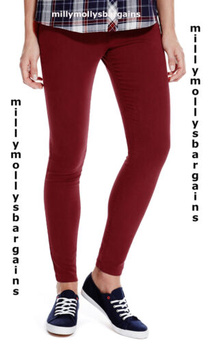 New Womens Marks /& Spencer Red Jeggings Size 18 14 12 10 8 Long Medium Short
