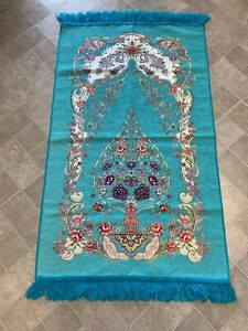 Islamic-Muslim-Prayer-Rug-Carpet-Mat-Tassel-Tapestry-Islamic-Praying-FREE-SHIP