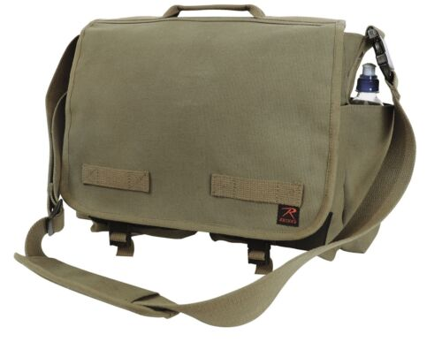Heavy Duty Cotton Canvas Concealed Carry Gun Messenger Shoulder Bag Rothco