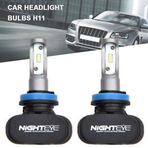 2x-Nighteye-h11-led-bulbs-LED-Headlight-Kit-Car-Bulbs-6500K-Super-bright-White