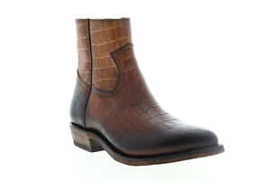 Frye-Billy-Inside-Zip-Bootie-70807-Womens-Brown-Leather-Zipper-Booties-Boots