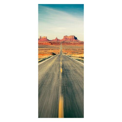 Türbild Türtapete Highway Monument Valley Tapete Tür-Aufkleber Wandbild