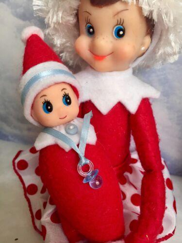 "Red Bodied Christmas /""Shelf Sitting/"" ELF doll /""ELFKIN BABY/"" Sweet little BOY"