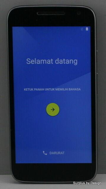 "Motorola Moto G4 Play XT1601 5"" 16GB Black Unlocked Good Condition 8/10"
