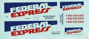 TRUCK-DECAL-FEDERAL-EXPRESS-DELIVERY-VAN-1-25-SCALE