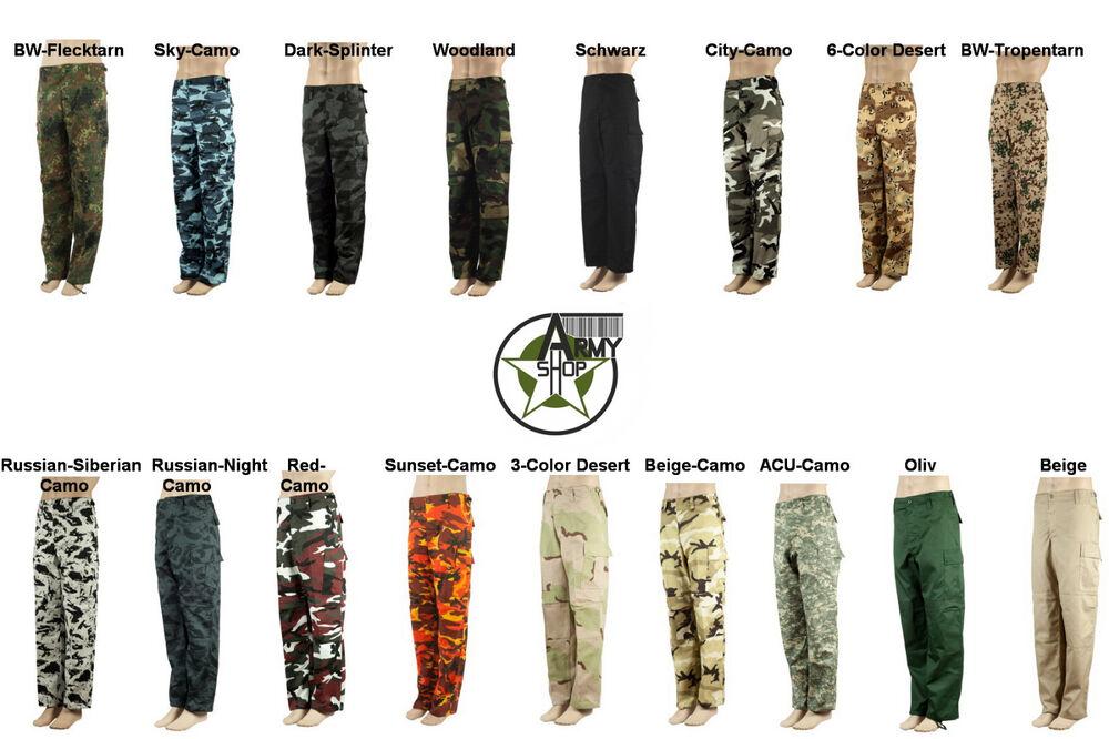 Américaine Rangerhose Army Pantalon De Combat Bdu En Différentes Couleurs Xs S M