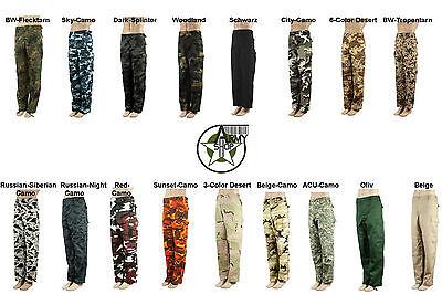 Brandit Uomo BDU Combat Pantaloni Esercito CARGO RANGER Work Wear noi CASUAL PANTS