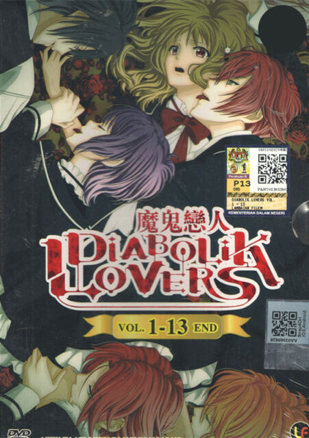 DVD Diabolik Lovers ( Vol. 1 - 13 End ) Complete Series + Free Shipping