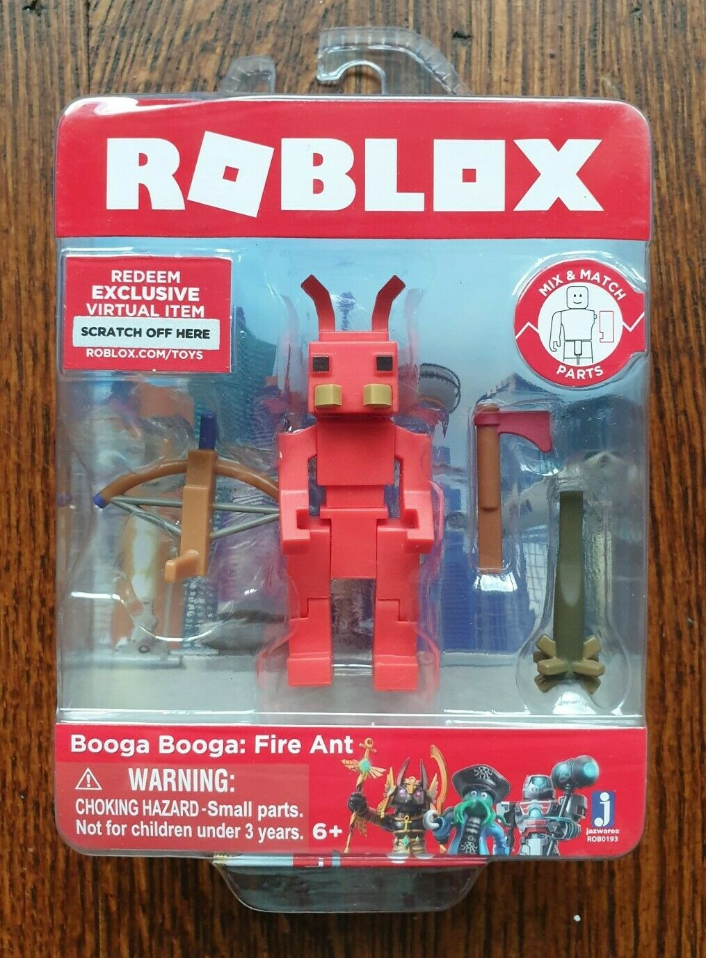 Virtual Roblox Code Roblox Booga Booga Fire Ant 3 Action Figure W Exclusive Virtual Item Code For Sale Online