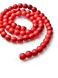 66-PC-Lot-Natural-Gemstone-Round-Spacer-Loose-Beads-Red