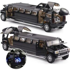Limousine-Alloy-Plastic-Cars-Model-Pull-Back-Flashing-Kids-Toy-Vehicles
