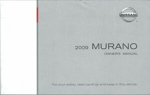 2009 nissan murano owners manual user guide reference operator book rh ebay ie 2009 nissan murano owners manual pdf 2010 Murano