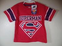 Boy's Dc Comics Superman Red Shirt W/ Raised Decal, Sz 4, 5, 6