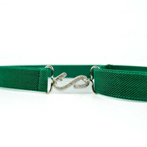 Child/'s Elastic BeltGreen Elasticated Kids Snake BeltHandmade in UK