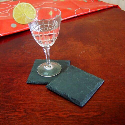 30cm x 20cm Handcut Natural Slate Placemat /& Coaster Mat Set of Dinner Tableware
