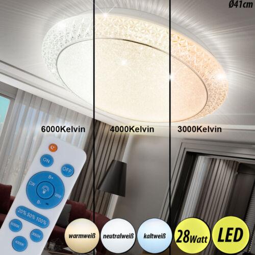 Luxus LED Decken Leuchten Flur Kristall Lampen CCT Fernbedienung Beleuchtung