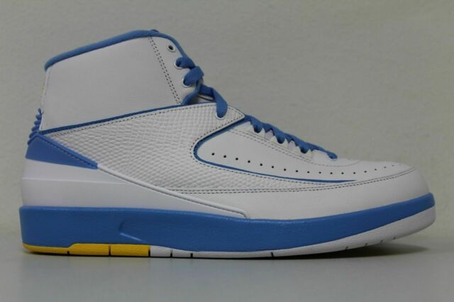 17988579e6f Nike Air Jordan 2 Retro Melo 2018 White University Blue Maize 385475-122  Size 12