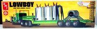 Amt 880 1/25 Scale Lowboy Flatbed Semi-truck Trailer Plastic Model Kit