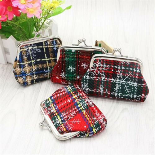 Women/'s Small Wallet Holder Coin Purse Clutch Handbag Bag Cloth Plaid Coin Bag B