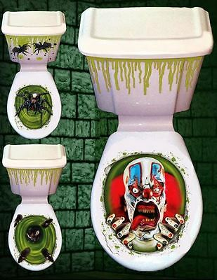Horror Toilet Sticker Halloween Decorations Cover Seat Party Fun Scary House Ebay