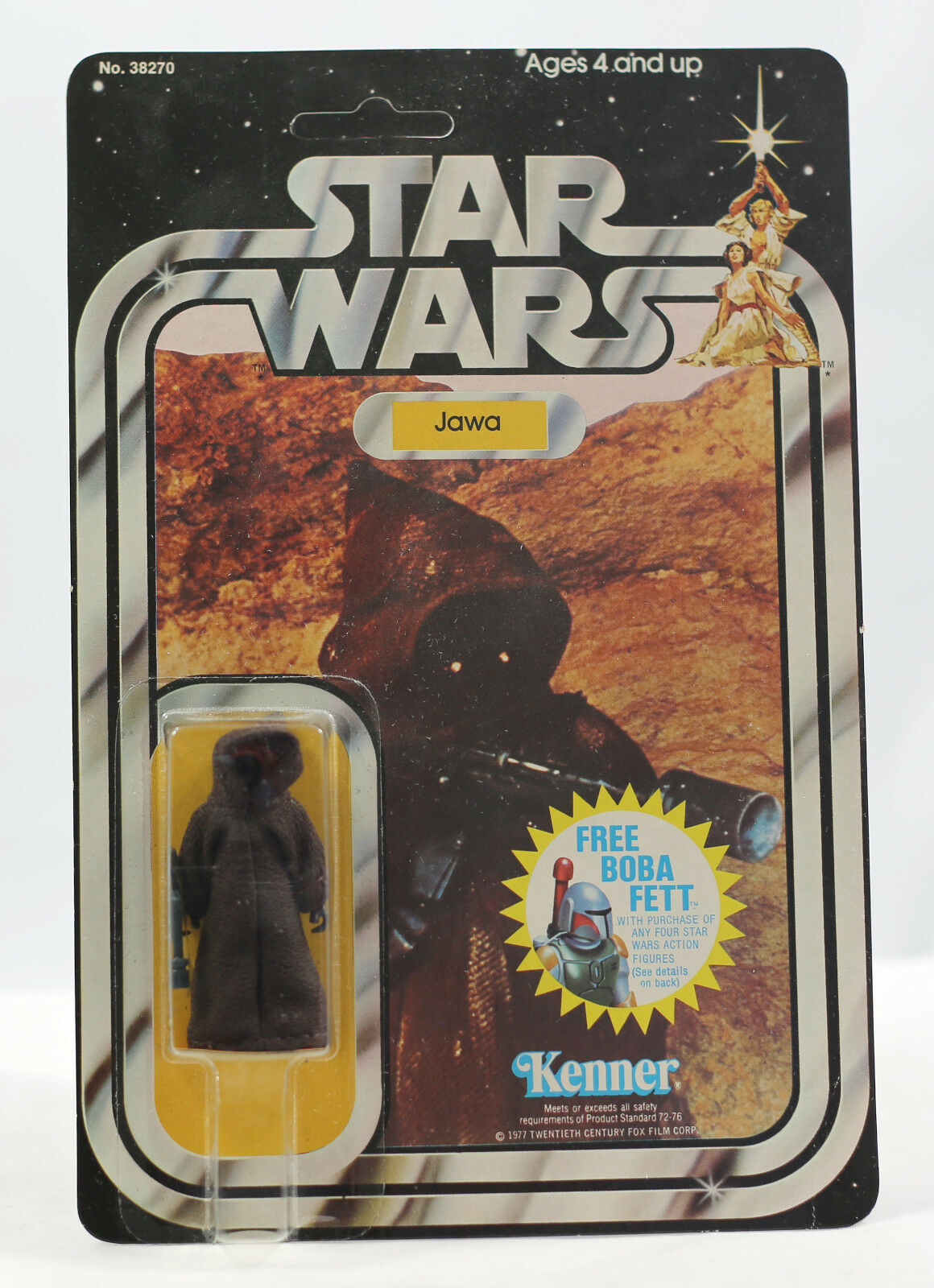 Vintage Star Wars Jawa MOC - 20 Back EXTENDED OFFER Clear and Unpunched Kenner
