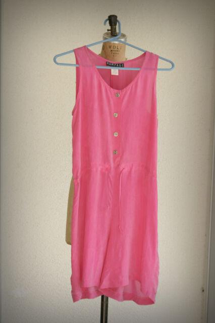 Rampage Size 5 Henley Romper Vintage 1980s Pink USA.