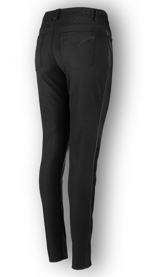 HARLEY DAVIDSON in in in pelle da donna stretch SKINNY pants 96609-19EW 34  9dd656