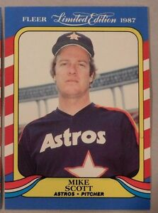 Details About 1987 Fleer Limited Edition Mike Scott Astros Baseball Card Lot Of 2
