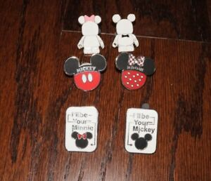 Set-6-Disney-Pins-Vinylmation-Blank-and-Bow-Matching-Set-Mr-Mrs-Wedding-I-039-ll-be