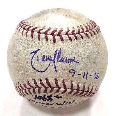 Randy Johnson Signed Insc 9-11-06 Game Used Baseball from Torre's 1068th Win JSA