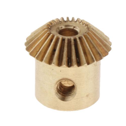 5 mm Messingkegelrad 13 mm Außendurchmesser 4 mm 0,5Modulus 25 Zähne 3 mm