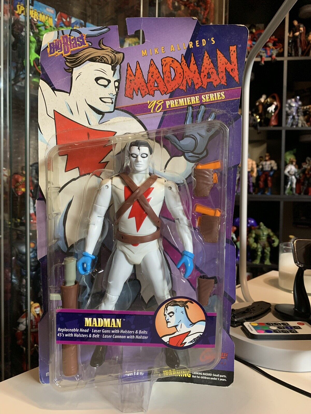 Madman x2 w accessory pk, pk, pk, Grendel, Mage Action Figure set -Graphitti-Big Blast 372fe7