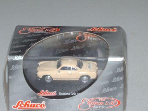 OVP 21605 Schuco-HO 1:87 Kamann Ghia Coupe beige Metal  Neu