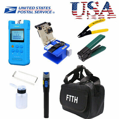 FTTH Splicing Splice Fiber Optic Stripping Tool Kit Set With Fiber Cleaver FC-6S