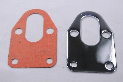 CHROME FUEL PUMP MOUNTING PLATE FOR SBC 283 305 327 350 383 400 SB CHEVY US
