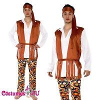 Mens Hippie 60s 70s Peace Groovy Costume Halloween Hippy 1960s 1970s Fancy Dress