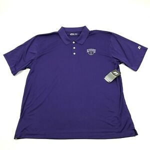 NEW Russell UCA Central Arkansas Bears Polo Size 2XL XXL Purple Dry Fit Shirt