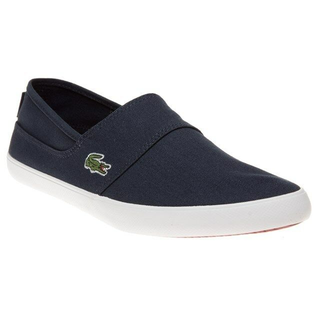New  Lcr Uomo Lacoste Blau Marice Lcr  Canvas Trainers Slip On 519d16