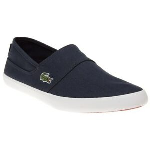d85b89d22 Image is loading New-Mens-Lacoste-Blue-Marice-Lcr-Canvas-Trainers-